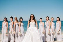"My Beach Wedding / This was my dream wedding that I planned on Pinterest!  Bridesmaids Dresses: Bari Jay Bridesmaids Wedding Dress:  ""Charlotte"" - Blue Willow Bride by Anne Barge Venue: The Crescent Beach Club in Bayville, New York Wedding Planner: La Bella Planners  Photographer: Year and a Day Photography Hair: Aire Blow Dry Bar Makeup: Ylenia Mazzei Makeup Tuxedos: Forest Tuxedo Selfie Sticks: Selfie on a Stick Accessories: Happily Ever Borrowed Colors: Gray and Blush"