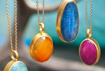 Tapestry by Baroni Jewelry / Like its namesake, this collection of larger stones weaves together deep color and boldness. The red of ruby, the beautiful denim iridescent blue of kyanite, carnelian's orange glow, the heavenly blue-green of amazonite and the stunning opalescence of labradorite serve to remind us of the richness of life. Consider layering with the Dreamweaver collection to create a statement of beauty.