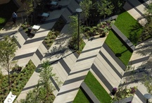 .Landscape-Details / Public space details Urban furniture, light and seating Pavement and planters