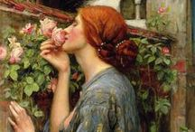 preraphaelite / The Pre-Raphaelite Brotherhood was a group of English painters, poets, and critics, founded in 1848.