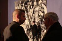 Melancholia I - Tombée de métier / Melancholia I, de Marc Bauer, est une actualisation de la célèbre Mélancolie du graveur allemand Albrecht Dürer. Pour cette œuvre, l'artiste a reçu le 2ème Prix de la Cité de la tapisserie en 2011. Tissée par P.Guillot à Aubusson, la tapisserie est tombée du métier le 22 novembre 2013.  + d'infos : http://tinyurl.com/okly4sz