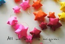 Origami:)) / I like create something with just paper. Amazing:)