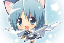 chibi anime / This is a board with chino anime (mini anime people) on it.