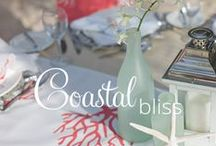 Coastal Bliss- Memorable Moments Signature Wedding Collection, by Karisma™ / A Contemporary Seaside Celebration Harness the essence of the coast in a sleek and elegant way with this collection. The natural beauty of the shore will complement you as you pledge your love to one another. / by Karisma Weddings
