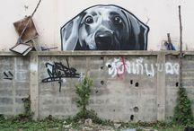 STREET ART (plain walls)