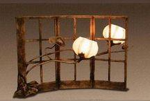 Hanji Lamps / Korean lamps made using traditional hand-made paper (hanji).