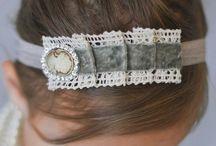 Flores, lazos y cintillos / Flores, lazos, cintas, diademas y cintillos para el pelo.  / by Ileana Aviles