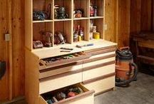 WOODWORKING - CABINETS & STORAGE / A VARIETY OF IDEAS FOR SHOP STORAGE
