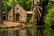 Hütte und natur