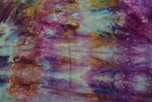 Playing with colour - tray dyeing / Colouring fabric with Procion dyes to create exciting and vibrant one-of-a-kind fabrics