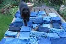 Indigo! / Creating beautiful blue fabrics using resist techniques and indigo dye