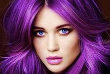 Bold Hair / We love looking at the vibrant hair colours and styles. Makeup and hair just goes together perfectly.