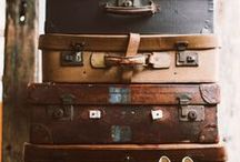 suitcases, crates and boxes.