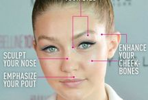 Strobing / The latest trend in makeup which involves highlighting only.