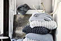 * KNIT ❤ / Cosy warm blankets etc
