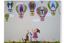 Colección Chispa-Cuadros Infantiles Personalizados / Colección Chispa de cuadros infantiles artesanales y personalizados de www.kdekids.com