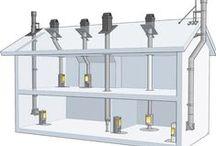 Skorstenslösning till ditt hus / Installationsalternativ med Premodul skorsten. Med hjälp av skisserna får du snabbt en överblick av vilken skorstenslösning som passar bäst till ditt hus