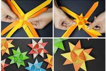 - Origami - Papiroflexia - / Decoración usando Origamis. Manualidades para niños y adutos. Decorar usando papel. Familia. Papiroflexia para todos. DIY