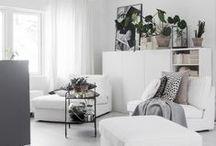 New apartment / Decor, design, scandinavian style, wood, black, white & plants