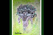 """ELISA ERCOLI """" Adon il Nadir """" / Dipinti su tela , legno e supporti vari."""