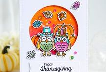 Harvest Happiness / Fall, Autumn & Thanksgiving cards and other paper craft ideas using the Harvest Happiness Stamp Set & matching dies by Sunny Studio Stamps.