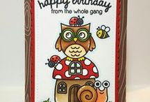 Woo Hoo / Sunny Studio Stamps Woo Hoo Graduation and Owl themed clear photopolymer stamp set and matching steel rule dies.