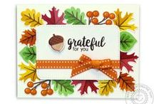 Autumn Splendor / Sharing Fall Cards and other paper crafts inspiration using the  Autumn Splendor clear stamps & dies by Sunny Studio.