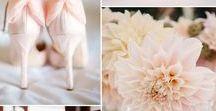 Růžová a meruňková škála 2017/ Rose color scale 2017 / Růžová, meruňková a lososová v různých trendy barevných kombinacích pro svatební sezonu 2017