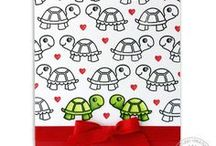 Turtley Awesome / Sharing cards and paper craft ideas using the new Turtley Awesome stamps & dies by Sunny Studio.