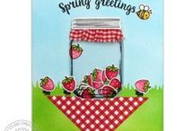 Vintage Jar / Sharing Spring Cards and other paper crafts using Vintage Jar Stamps and Dies by Sunny Studio.