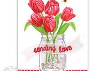 Timeless Tulips / Sharing Spring Cards and other paper crafts using the Timeless Tulips Stamps and Dies by Sunny Studio.