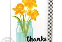 Daffodil Dreams / Sharing Spring Cards and other paper crafts using Daffodil Dreams Stamps and Dies by Sunny Studio.