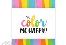 Color Me Happy / Sharing cards and paper craft ideas using the new Color Me Happy stamps & Color Word die by Sunny Studio.