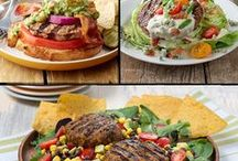 Burgers - All Stacked Up / Featuring recipes and entertaining ideas from Coleman Natural Foods and repins