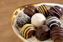 Hoffman's European Truffles / Each exquisite truffle is a tenderly handcrafted blend of rich heavy cream and smooth silky chocolate. Flavors include Grand Marnier, Swiss Rum, Champagne, Coconut, French Chocolate, Mocha & Creme and Raspberry. Always an elegant choice! Kosher OU-D.