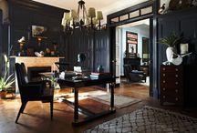 Black | Dark Decor / {black/dark elements - ceilings, walls, furniture, trims, floors, doors, etc} / by SF Fesseha