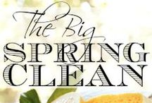 Spring Cleaning / Spring cleaning - the yearly ritual of clearing out the closets and deep cleaning the house. Organizing tips and ideas on cracking open the overstuffed closets and drawers and shaking out the dust of winter