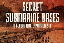 Global War 1936 Expansion - Secret Submarine Bases / Welcome to Secret Submarine Bases (SSB), a Global War 1936-1945 (2nd Edition) expansion set. During the Second World War many nations operated hidden submarine bases in remote locations around the world. These bases were nestled in isolated coasts and sometimes even in Neutral counties.