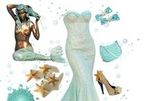 Mermaid Style / Channel your inner mermaid with these siren-style fashion inspirations
