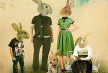Hipster Easter / Contemporary, modern, alternative design for Easter crafts and digital art