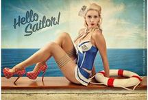 Nautical Sailor Retro Pin-up Style / Nautical but nice. Fashion and Artwork to inspire retro looks and photo shoots