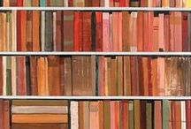 Bookshelves by Stanford Kay / Paintings of bookshelves by Stanford Kay
