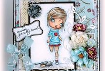 Lizzy Love Collection / exclusive designs by illustrator Lizzy Love of Oddball Art  / by Whimsy Stamps