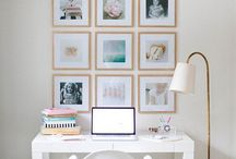 Gallery Walls | HOME / Gallery walls, gallery wall ideas, gallery walls inspiration, modern gallery ways, traditional gallery walls, how to make a gallery wall, diy gallery wall, easy gallery wall, gallery wall tips, how to make your own gallery wall, easy gallery wall, simple gallery wall, bright gallery wall