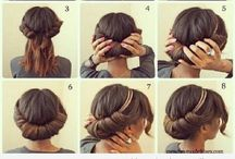 Peinados / Peinados escogidos para la ocasión faciles de hacer para todo tipo de cabello :) paso a paso