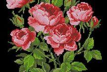 Вышивка крестиком. Розы