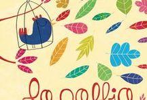 """La gabbia, di Alice Brière Haquet, con illustrazioni di Nicolas Gouny / In una gabbia vive un uccello dal canto così bello che tutti i passanti si fermano incantati. Ognuno porta via una sbarra. Tutte le sbarre portate via creano una strana musica """"senza sbarre"""". E l'uccello... che fine ha fatto? Un libro che racconta la poesia della libertà ai più piccoli."""