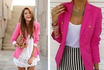 """~Bold Blazers & Gorgeous Gowns~ / my two fav contrast outfits """"blazers and gowns..."""" Blazers gives u a bold and hot look,,,while gowns gve u a pretty nd feminine gorgeous look...try out both looks u ll luv it... <3 <3"""