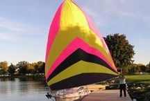 Sails / We love the look of a full sail on the water! With a Sailrite Sail Kit you can sew your own sail. See our inspiration, completed customer sails and get great how-to tips for building and repairing your own sail.  / by Sailrite