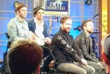The Trews on CTV Canada AM / The Trews on Canada AM, April 23/14, Scarborough, ON. Taken by...us (on phone and point-and-shoot cameras)! They were interviewed and performed two songs live on air (What's Fair Is Fair and Rise In The Wake), then did one extra song (Age Of Miracles) for everyone that had shown up so early in the morning.